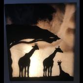 """Wandbild Afrika """"Giraffe"""""""