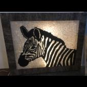"""Wandbild """"Zebra"""""""