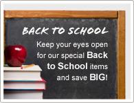 Achten Sie auf unsere speziellen Zurück in die Schule Artikel und SPAREN Sie!